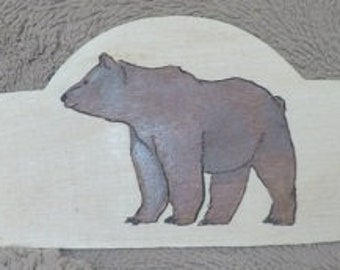 Grizzly Bear Engraved Wood Plaque
