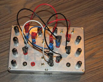 4 Oscillator Patchable Crackle Box // Noise Synth  with Patch Bay // Drone Machine // sound design // electro lobotomy ( pre order )