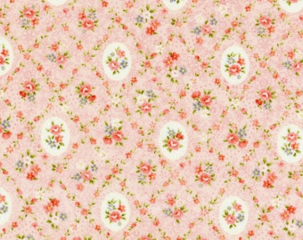 Garden Path Floral Beige Pink Cotton Fabric by  Cosmo AP52311-3d