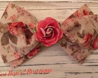 The Rose Garden Hair Clip Bow