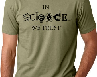 In science we trust funny scientist science lover t shirt gift tee