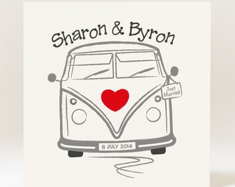 Personalised Campervan Wedding Card