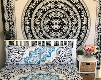 Mandala Doona, Mandala duvet, bedding , quilt, bedroom, queen size, boho,