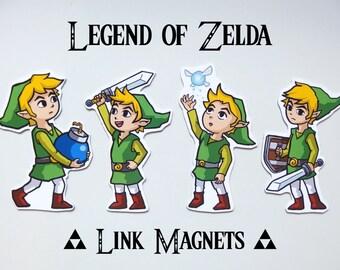 Legend of Zelda - Link Magnets