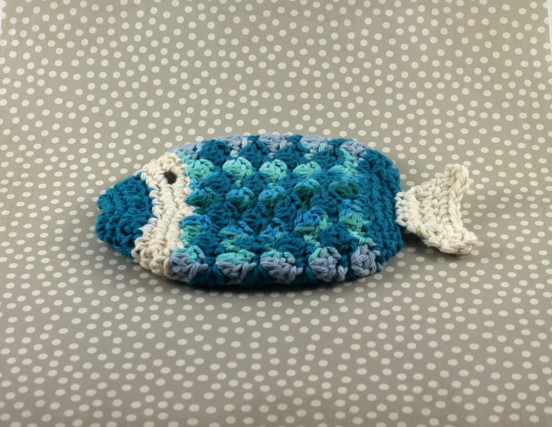 Crochet Cotton Fish Scrubby Fish Washcloth Crochet