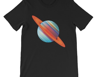 Saturn T-Shirt Unisex Planet Space Solar System Planets Infographic Galaxy Universe