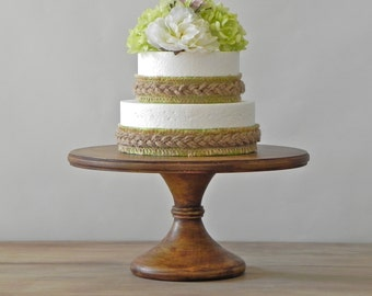 """12"""" Wedding Cake Stand Rustic Cake Stand Pedestal Cake Stand Grooms Cake Topper E. Isabella Designs As Featured In Martha Stewart Weddings"""