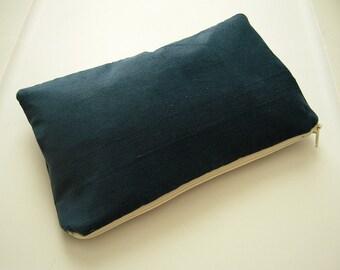 Blue Corduroy Clutch