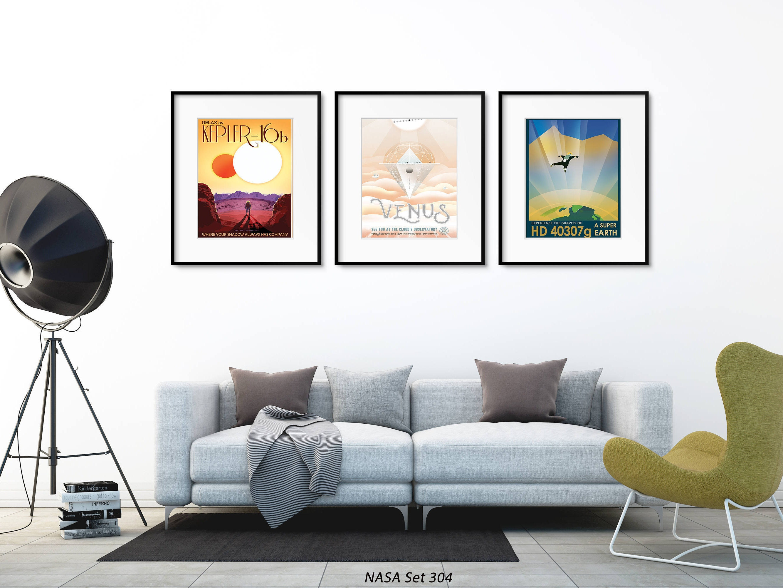 NASA Poster Wall Art, Space Artwork, Set of 3 Space Prints, Space ...
