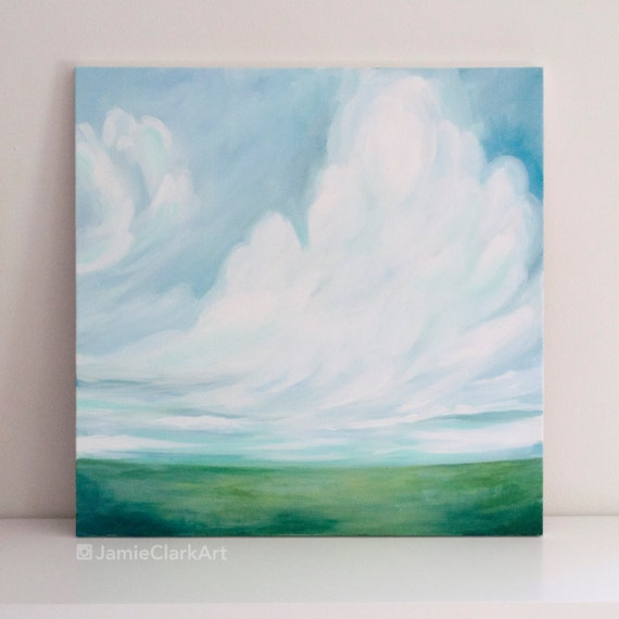 "Original 24x24 Painting ""Cloudscape No. 4"" FREE SHIPPING"
