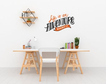 Life Is An Adventure Wall Sticker Quote