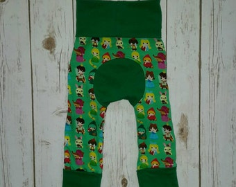 Maxaloones,Grow With Me Pants,Green Baby Leggings,Cloth Diaper Pants,Evolution Pants,Baby Maxaloons