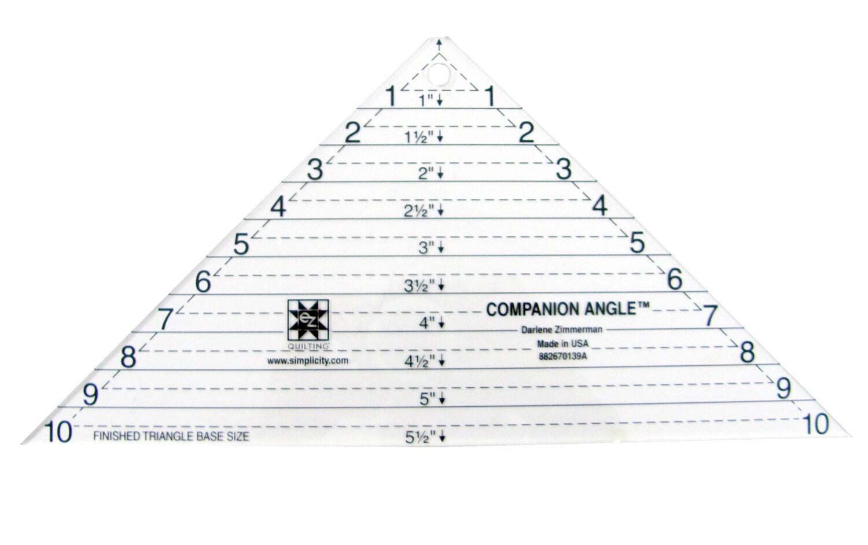 Compañía ángulo triángulo acrílico acolchado plantilla