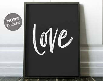 Love Print/ PRINTABLE ART/ Love typography/ Modern print/ Simple print/ Minimalist print/ Custom love print/ Love Poster/ Love Wall Art