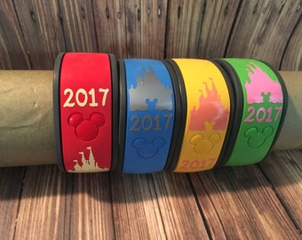 Castle Decal With Year/  Magic Band Decal /Disney Decal /Disney Castle Sticker/ Castle Decal/ Magic Band Decal/ 2018 Castle