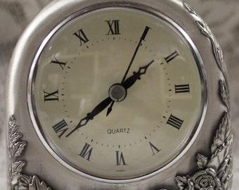 Rose Patterned Clock