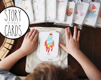 TREEHOUSE Story Cards, Story Cards, Original Set, story telling, creative writing, family fun, fhe, for teachers, imagination,
