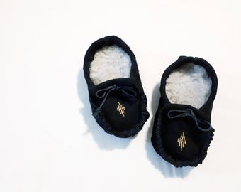 Leather Beaded Baby Moccasins