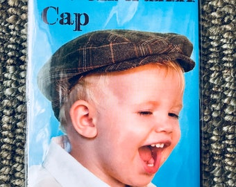 Sew Liberated #110  Sewing Pattern For Huck Finn Cap for Boys from 6 Months to 10 Years Driver's Cap  Elastic Back Meg McElwee  Uncut NEW