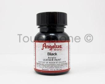 Black Angelus Acrylic Leather Paint - 1oz Bottle
