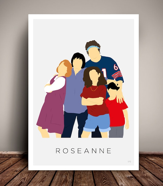 Roseanne // Minimalist TV Poster // 1980s - 1990s // Unique Art Print