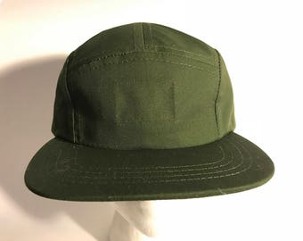 Forest Green 5 panel Hat