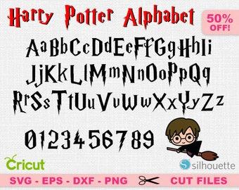 Harry Potter font svg, Harry Potter Alphabet svg, Harry Potter svg, Alphabet svg, Font cricut, Font svg, Alphabet cricut