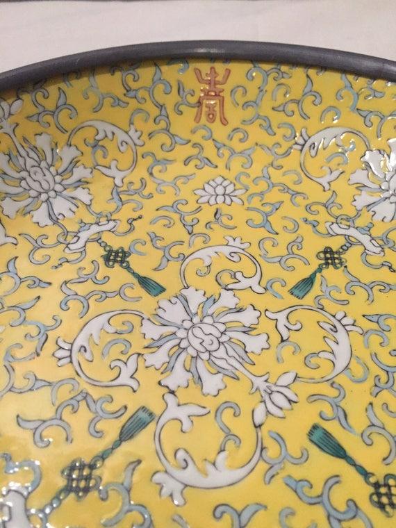 Japanese Porcelain Ware Yellow/Grey/Red/Green Porcelain Bowl