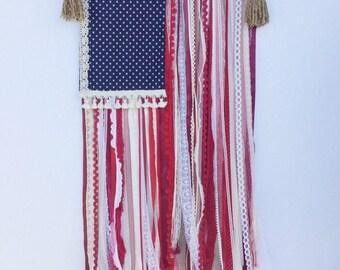 Boho chic American flag