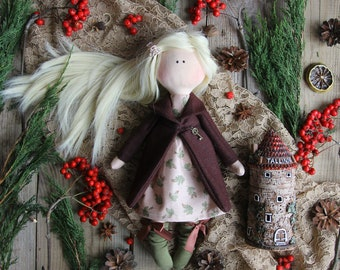 Textile doll Bianca