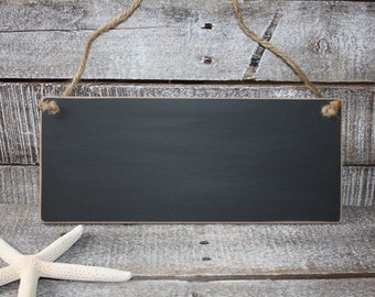 Distressed Hanging Chalkboard Sign- Unframed Chalkboard-  Blackboard Message Board- Chalkboard Wedding Sign- 5 x 12 Reusable