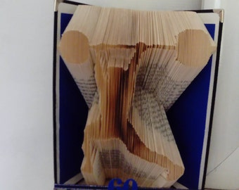 Weight Lifter Book Folding Pattern