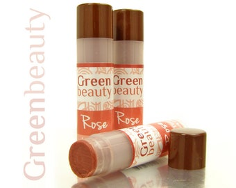 Tinted lip balm, Rose, lip tint, natural lip balm, sheer lip tint, sheer lip color, natural makeup, mineral makeup,  moisturizing balm, YLBB