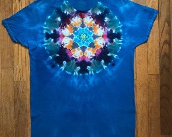 Size M tie dye mandala tshirt OOAK twilightdance