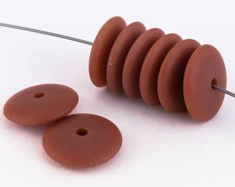 12mm Semi Matte Rust Rondelle (10 Pcs) #UP288