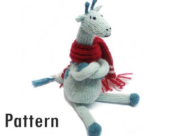 PDF Pattern - Clive the Chilly Giraffe - Knitting and Crochet