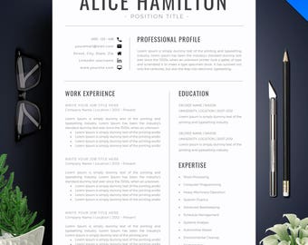 Resume Template With Photo / CV Template + Cover Letter   Instant Download   Teacher Resume   Professional and Creative Resume Template