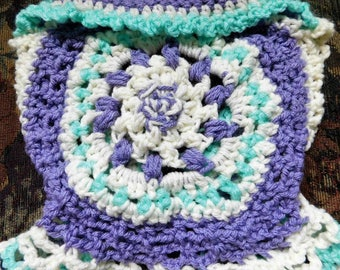 newborn baby vest, baby girl vest, mandala vest crochet, baby girl clothes, 3-6 month girl clothes, handmade baby girl, circle vest, crochet