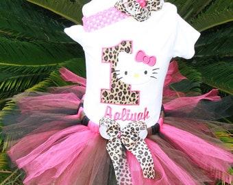 cheetah Kitty Tutu Set