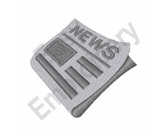 Newspaper - Machine Embroidery Design