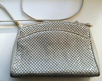 Vintage Whiting & Davis International Off-White Mesh Evening Bag