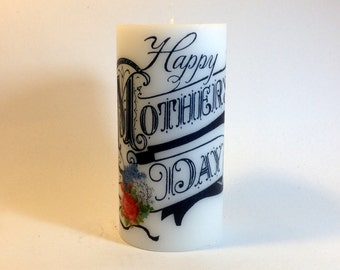 Happy Mother's Day candle, Mother's Day Gift, Gift for Mom, Candle for Mom, Unique Gift for Mom, Mom Gift, Mother's Day Heart, Gift from son