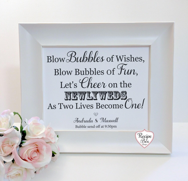 Wedding bubbles sign blow bubbles bubbles send off sign zoom kristyandbryce Images