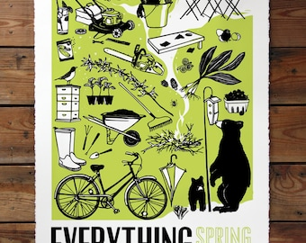 Berkshire Four Poster Everything Spring - Screen Printed