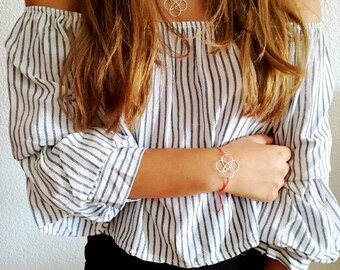 Braided drops bracelet • Spiral bracelet • Twist bracelet • Bridesmaid Bracelet