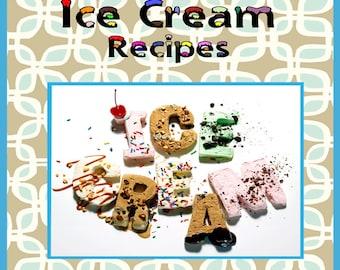 78 Ice Cream Recipes E-Book Cookbook Digital Download