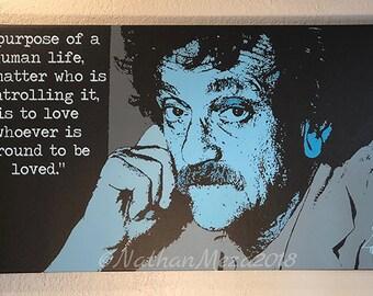 Kurt Vonnegut Digital Art Canvas Print  Inspirational Quote