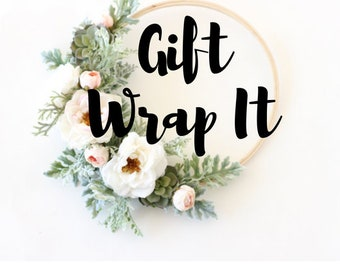 Gift Wrap Service - Gift Wrap Add-On - Gift Wrapping - Gift Wrap Supplies - Gift Wrap Options - Wrapping Paper - Gift Box - Gift Bags