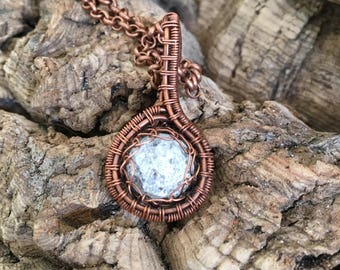 Copper and Crystal Choker necklace