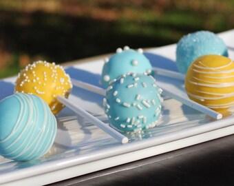 Light Blue & Yellow Signature Cake Pops